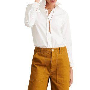 Alex Mill Shruken Button-Down Shirt White Sz S